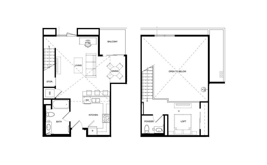 floorplans loft