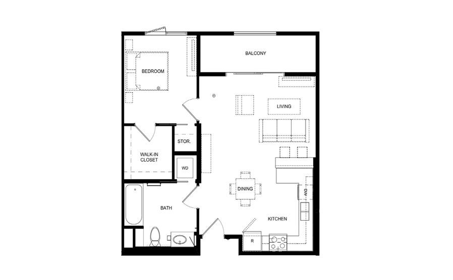 floorplans one bedroom