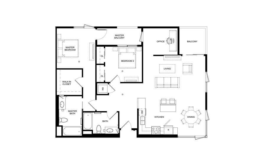floorplans two bedroom